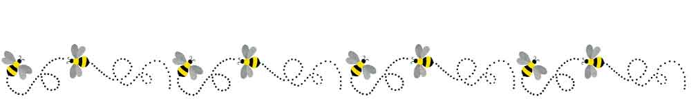 Bees flying footer graphic