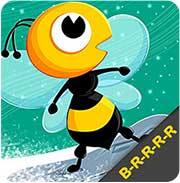 Bee in winter graphic